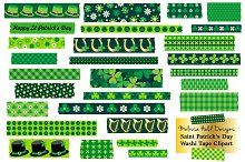 St Patrick's Day Washi Tape Clipart