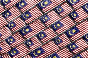 Malaysia Flag Urban Grunge Pattern