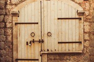 Old door in Budva