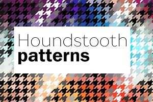 10 seamless hounds-tooth patterns