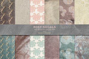 Rosy Shoals: Gold and Watercolors