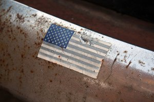 Faded American Flag Sticker