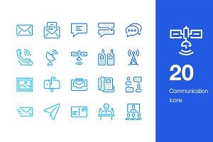 20 Communication icons