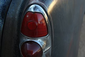 Taillight on a 1953 Patina Car