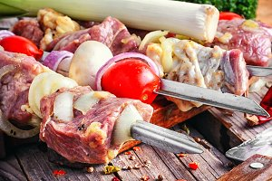 Marinated meat for the picnic