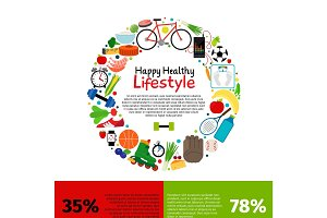 Healthy lifestyle food infographics