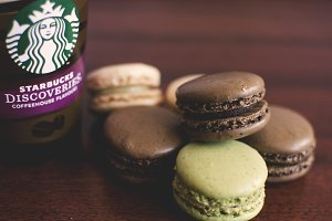 Macarons and starbucks