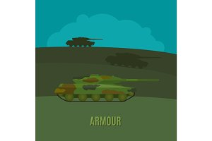 Armed forces tanks