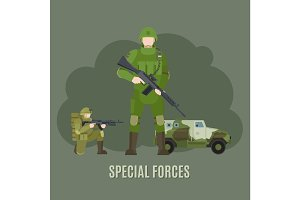 Military and army special forces