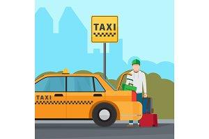 Taxi city transportation service