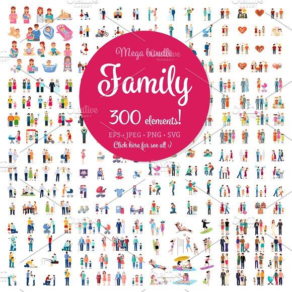 Mega Family Set-Graphicriver中文最全的素材分享平台