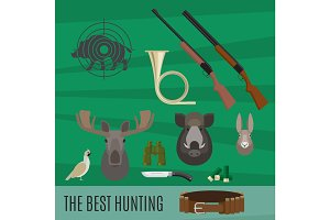 Hunting set of elements