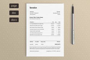 Invoice (black & white)
