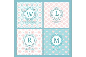 Cute and chic pink cards