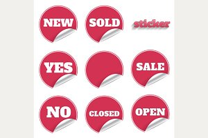 Red sticker set