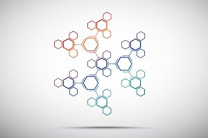 Abstract snowflake hexagonal