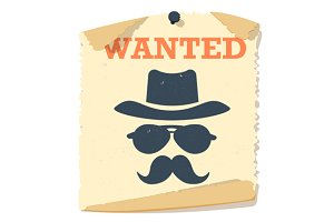 Wanted poster icon. Wanted poster