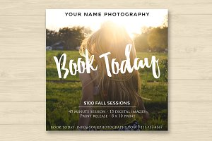 Photographer Fall Booking Ad