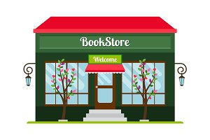 Book store facade icon