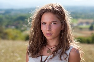 Portrait of a beautiful young women