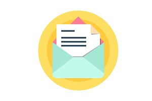mail Icon Vector illustration.