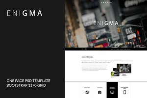 Enigma - One Page HTML Template
