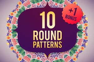 10 ROUND PATTERNS+1 BONUS
