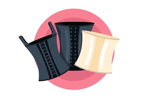 Elegant retro corsets collection