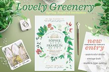 Lovely Greenery Wedding Card I
