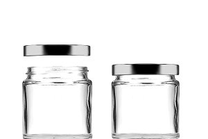 Clear Glass Mason Jar with Metal Lid
