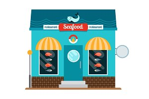 Seafood restaurant front