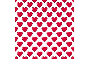 Red glossy candy hearts seamless pattern