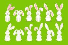 Cute easter cartoon bunny