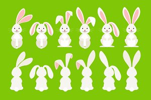 Cute easter cartoon bunny