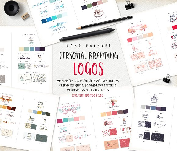 personal branding logos templates creative