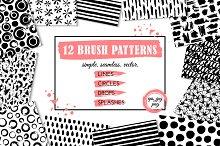 12 brush patterns