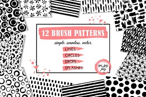 12 brush patterns