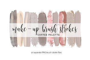Brush Strokes Clipart - coffee