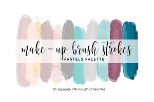 Brush Strokes Clipart - pastels