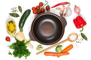 Ingredients for cook vegetable soup