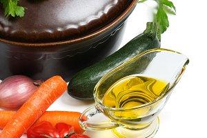 Fresh vegetables for soup