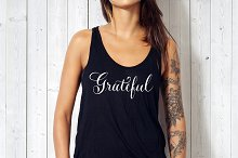 Grateful - Hand lettered Calligraphy