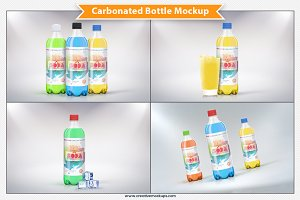 Carbonated Bottle Mockup