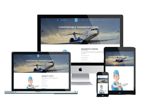 LT Aircoms Onepage-Airplane Joomla