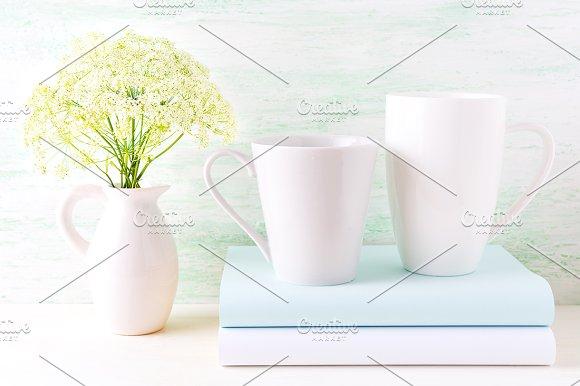 Cappuccino And Latte Mugs Mockup