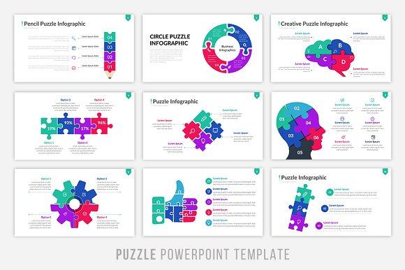 Puzzle infographic powerpoint presentation templates creative market maxwellsz