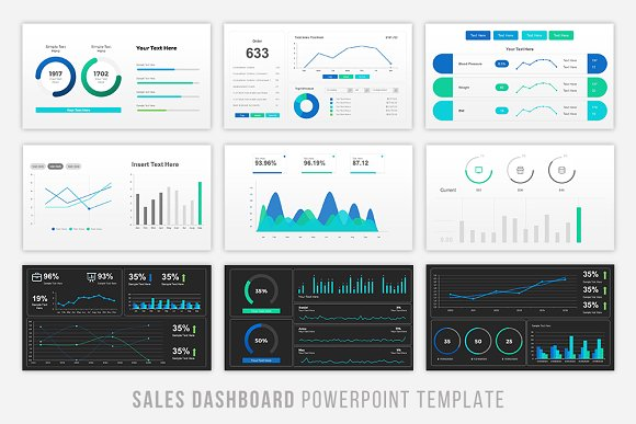 Sales dashboard powerpoint presentation templates creative market pronofoot35fo Image collections