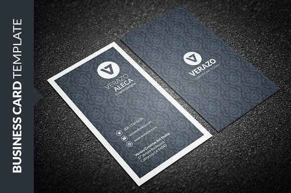 Clean elegant vertical business card business card templates clean elegant vertical business card business card templates creative market reheart Choice Image