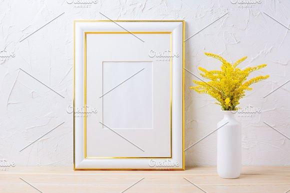 Gold decorated frame mockup ~ Product Mockups ~ Creative Market