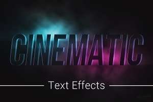 Cinematic Text Effects Mockup